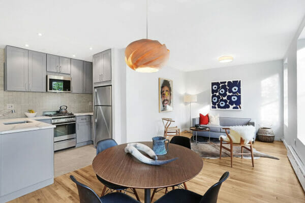 Open plan apartment in Brooklyn