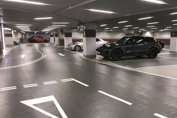 A parking space in Hong Kong that sold for $640000