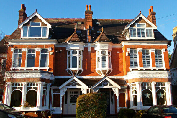 Houses in the town of Sutton in Greater London